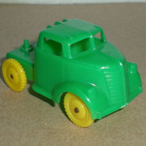 Allied Green & Yellow Tractor Truck Cab 4 American Flyer 643 Circus TrainLoadGY1
