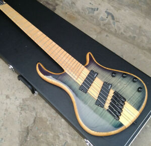 Top Quality 5or6 Strings Electric Bass Guitar Fanned Frets Solid Body Maple Neck