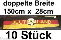 10x SCHAL DEUTSCHLAND FANSCHAL 150x28 FUßBALL EM SCHAL FAHNE FLAGGE FLAG GERMANY