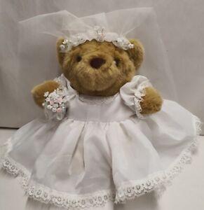 Super Cute Bride Dressed Teddy Bear Gift for Bridal Shower Flower Girl Wedding