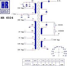 Transformateur THT Diemen HR6024                                          TV6024