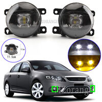 Smoked Left Right Side LED Front Fog Light Lamps For Ford Falcon FG Ranger PX AU