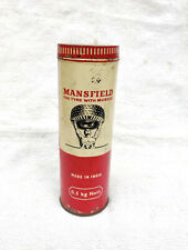 1960s Vintage Mansfield Tyre MRF Cusion Repair Compound Automobile Adv Tin Box