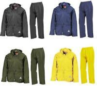 Result Mens Heavyweight Waterproof Rain Suit Jacket & Trouser Suit Inc FREE Bag