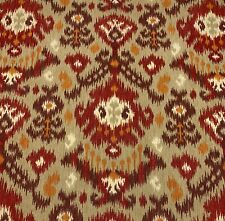 Magnolia Home Blurred Lines Santa Fe Ikat Red Brown Tan Fabric By The Yard