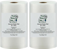 TWO 6x50 Rolls Food Magic Seal for Vacuum Food Storage Sealer Bags Great $ Saver