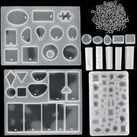 113x Silikonform Gießform Schmuck DIY Kristall Anhänger Mould Harz Halskette Set