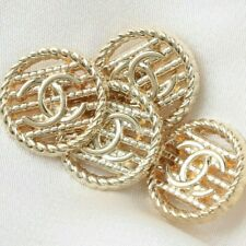 4 pc Chanel Buttons CC 💝  Gold 18mm Vintage Style Unstamped 4 Buttons AUTH!!!