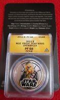 2011 Niue $1 Silver Plate Star Wars Chewbacca ANACS PF68 Disney ngc w/ COA!