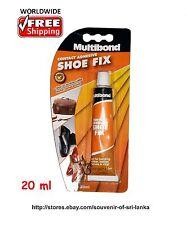 Shoe Fix Repair Multibond Contact Adhesive Glue bonding Rubber Leather Canvas