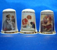 Birchcroft China Thimbles -- Set of Three -- Good Housekeeping Magazines