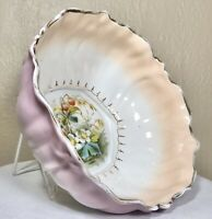 """Antique Carl Tielsch Altwasser CT Germany Porcelain Centerpiece Bowl Floral 8.5"""""""