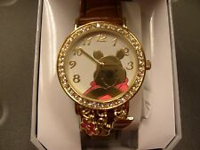 Winnie the Pooh Watch, WTPAQ136, Brown Leather Strap, Charms