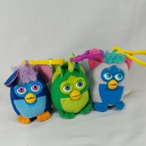 Lot of 3 Vintage Furby McDonald's Happy Meal Soft Plush Keychain Toys 2000