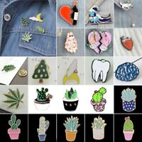Fashion Enamel Piercing Brooch Pin Shirt Collar Pin Breastpin Women Jewelry Gift