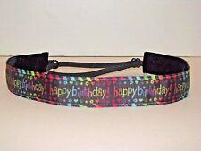 HAPPY BIRTHDAY Fitness Nonslip Headband adjustable Sweaty Sports Hair Bands