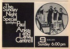 1970 WGN CHICAGO TV AD~PAUL ANKA & LANA CANTRELL~SUNDAY NIGHT SPECIAL