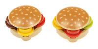 LEGO - 2 Burger / Hamburger mit Sesam - Oberteil  2654pb005 4073 4032 NEUWARE