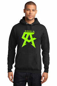 New SAUL ALVAREZ CANELO Boxing Logo Champion Men's Black Hoodie Sweatshirt S-5XL