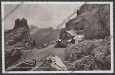 BELLUNO CORTINA D'AMPEZZO 176 RIFUGIO CANTORE Cartolina viagg. 1938 REAL PHOTO
