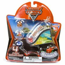 Disney Cars Cars 2 Series 3 Squinkies 4-Pack Mini Figures with Ramp NEW