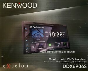 """NEW Kenwood DDX6906S 2-DIN 6.8"""" CD/DVD Car Stereo w/ CarPlay & Android Auto"""