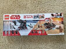 LEGO Star Wars 2-in-1 Super Pack set #66597 from 2018 NEW IN BOX #75197 #75198