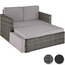 Canapé de jardin modulable Salon Mobilier en Résine Tressée 1 Tabouret