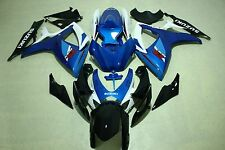 Fairing Kits fit for Suzuki gsxr600/750 06-07 2006 2007 white blue and black ABS