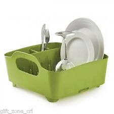 UMBRA TUB DISH RACK - Drainer Tray Washing Up Dishrack Tidy  - Green AVOCADO
