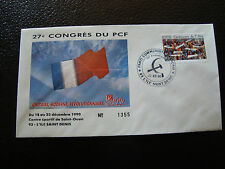 FRANCE - enveloppe 21/12/1990 27e congres du PCF (cy7) french (Y)