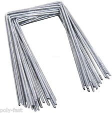 200 STEEL METAL GROUND PEGS PINS STAPLES FOR WEED CONTROL FABRIC MEMBRANE COVER