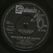 """GENE PITNEY somewhere in the country/lonely drifter SS 2103 uk 1968 7"""" WS EX/"""