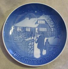 "B&G Bing & Grondahl Denmark Christmas Plate 1973 ""Country Christmas"" #9073"
