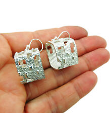 Sterling Silver 925 Square Drop Earrings