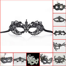 Schwarze Spitze Augenmaske Maskerade Venezianische Maske Abendkleid Tanz Neu
