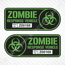 Zombie Response Vehicle Sticker Set Vinyl Decal Lime Green Car Truck Fits Jeep