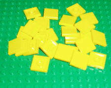 Lego - Parts - 25 Tiles 2x2 in Yellow - 3068b