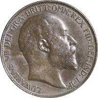 Great Britain Half Penny 1907 KM #793.2, XF - Verdigris