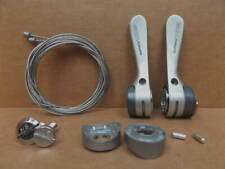 New-Old-Stock Shimano 105 7-Speed Index Shifters with Gray Enamel Finish