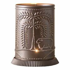 Candle Warmer with Willow and Sheep in Kettle Black Punched Tin