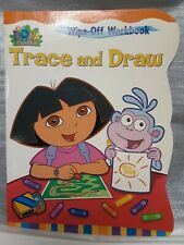 DORA THE EXPLORER EDUCATIONAL TRACE & DRAW BOOK & KEY CHAIN / PURSE JEWELRY # 1