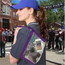Flanabags CLEARPACK GALLON Carry All -NWT- PLUM PURPLE - Stadium - Concert
