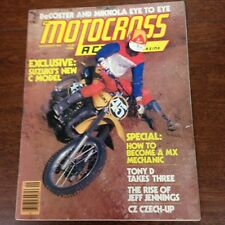 MOTOCROSS ACTION SEPTEMBER 1977 RM250C 500cc GP TONY D 250 NATS VINTAGE CZ AHRMA