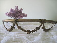 Antique French Ciel De Lit Bed Canopy Crown w/ Rose Garland Swags c1880