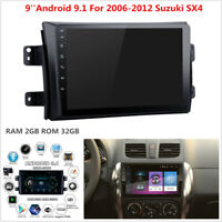 9'' HD Android 9.1 2GB+32GB Car Stereo GPS Radio Player For 2006-2012 Suzuki SX4