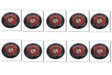 10 Premium Marines Automotive Grade Glossy Domed Decal Sticker Emblems 7/8 inch