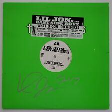 Lil Jon Signed What U Gon' Do Remixes Vinyl Record YEAH Hip Hop RAP LEGEND RAD
