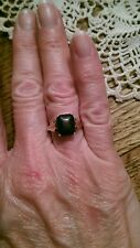 Antique 9 ct Yellow Gold English Bloodstone Ring Size 6.5, 2.4 grams