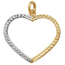 9Carat Multi-Tone Gold Love Hearts Fine Necklaces & Pendants without Stones